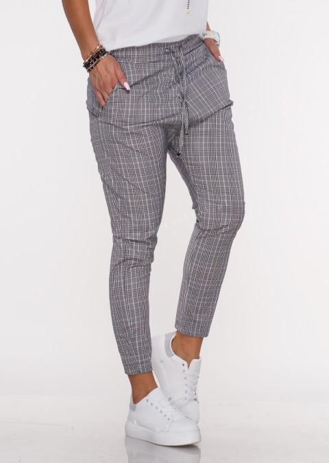 Włoskie spodnie BAGGY PUNTA kratka 2