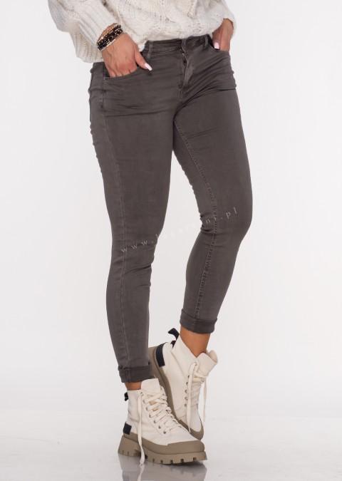 Włoskie klasyczne jeansy CARMONETTI ciemny beż /26