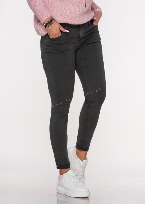 Włoskie klasyczne jeansy CARMONETTI khaki /27