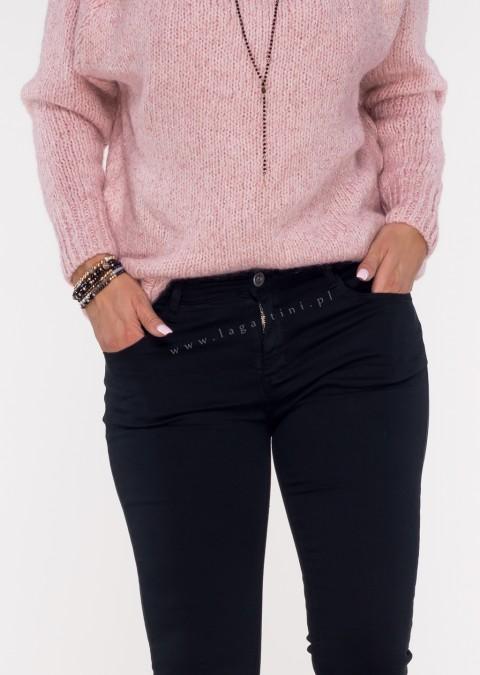 Włoskie klasyczne jeansy CARMONETTI czarny