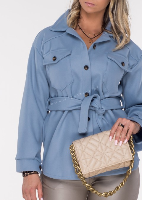 Włoska kurtka VENAROTTA niebieska