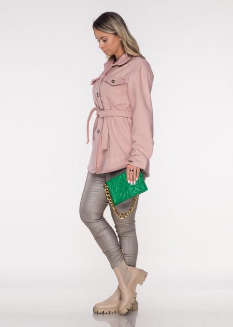 Włoska kurtka VENAROTTA różowa