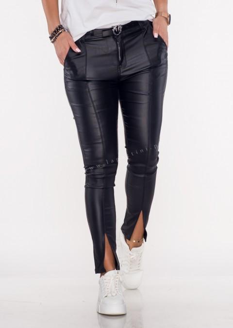 Woskowane spodnie LUXURY CUT black