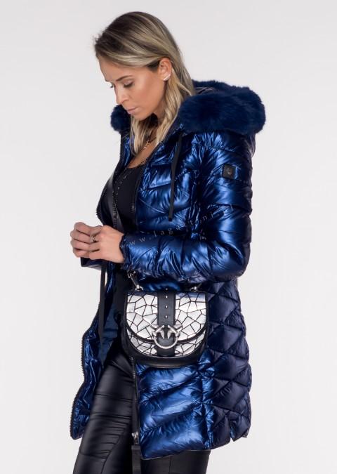 Pikowany płaszczyk LUXURY ARTIMINO navy blue