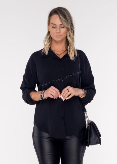 Włoska koszula GOOD VIBES czarna
