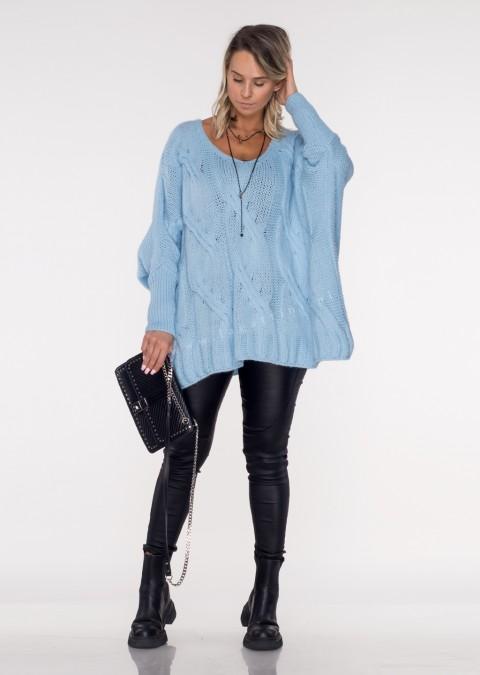 Włoski sweter SELVE niebieski