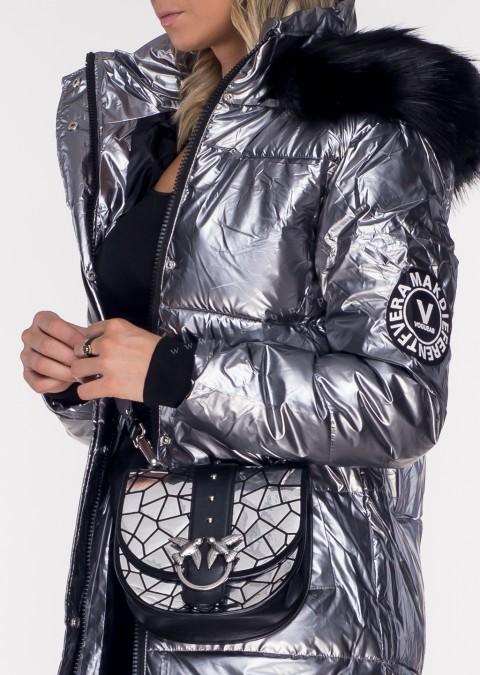 Pikowany płaszczyk V BERGIO 2w1 silver