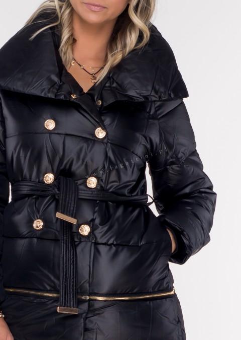 Włoski pikowany płaszczyk VALENTINA II 3w1 czarny