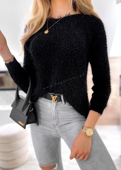 Włoski sweterek NICE ME czarny