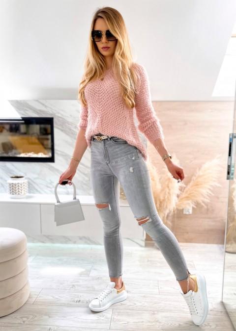 Włoski sweterek NICE ME różowy