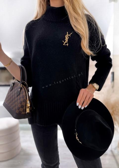 Sweterek COCOMORE półgolf czarny