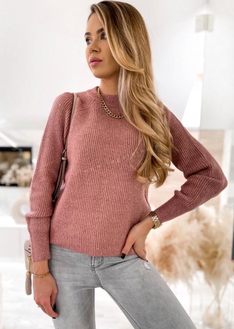 Włoski sweterek LUMINOUS różowy