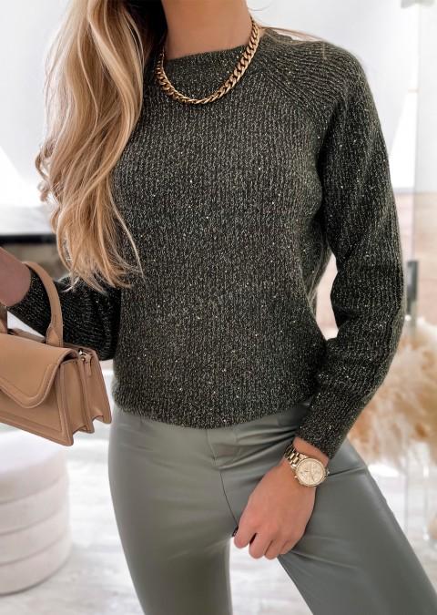 Włoski sweterek LUMINOUS khaki
