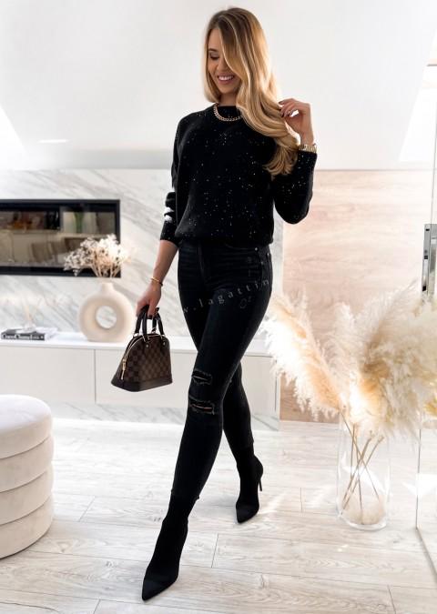 Włoski sweterek LUMINOUS czarny
