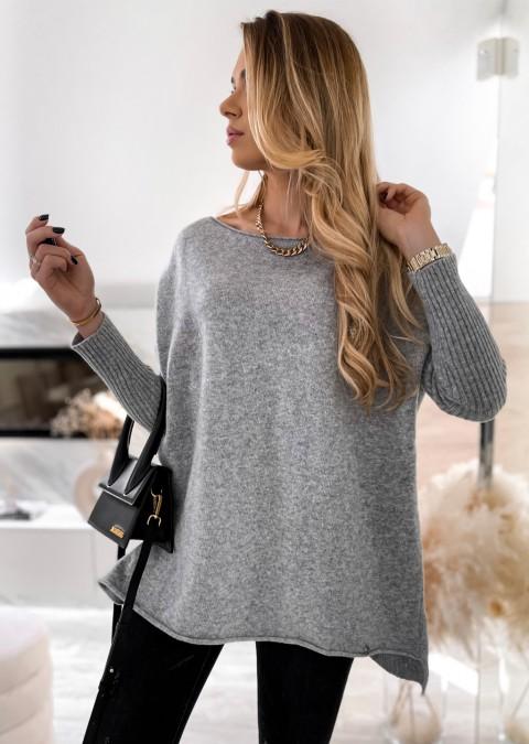 Sweterek COCOMORE basic oversize szary