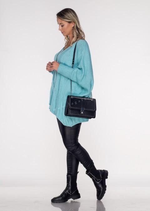 Włoski sweter SELVE czarny