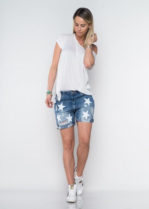 Włoskie szorty jeansowe boyfriend baggy gwiazdy