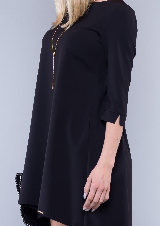 d70eb00717 Sukienka klasyczna asymetryczna czarna - Lagattini