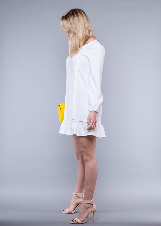 fa98803ef8 ... sukienka biała falbana · sukienka biała falbana