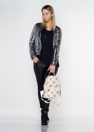 Włoski plecak ALEX MAX Luxury Star ercu/złoty