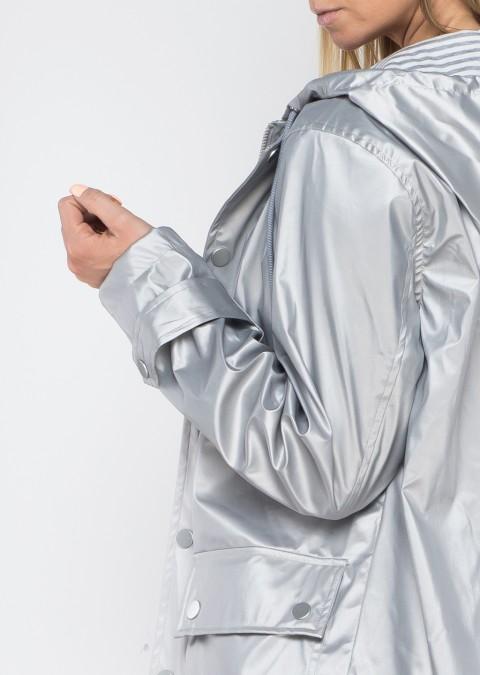 Włoski płaszczyk GUSTO srebrny