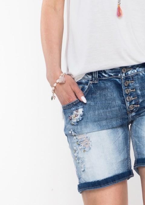 Włoskie szorty jeansowe PERLA