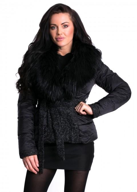 Włoska pikowana kurtka STELLA czarna